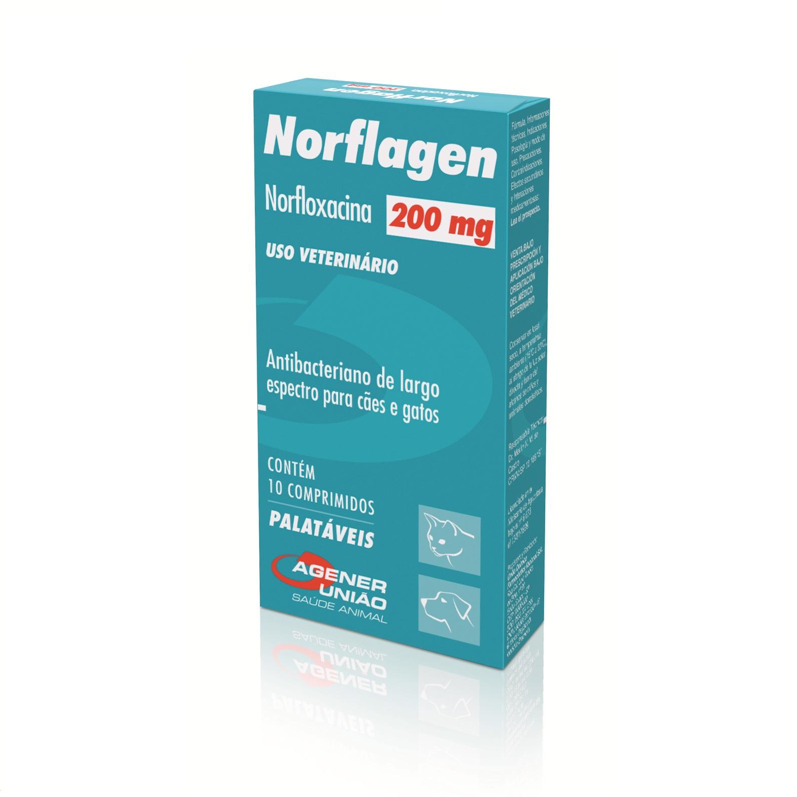 Antibacteriano Norflagen 200 mg - Agener União